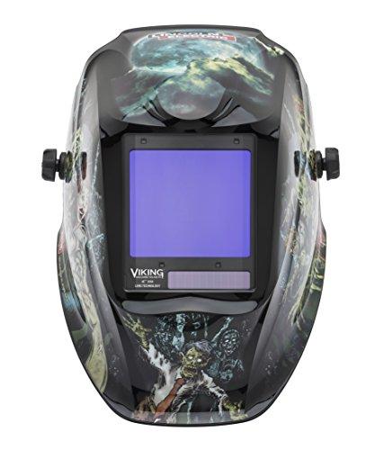 Lincoln Welding Helmet 3350 >> Lincoln Electric VIKING 3350 Zombie Welding Helmet with 4C Lens Technology - K4158-3 - HelmetFellas