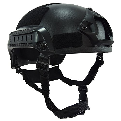 Onetigris Mich 2001 Tactical Helmet W Nvg Mount And Side