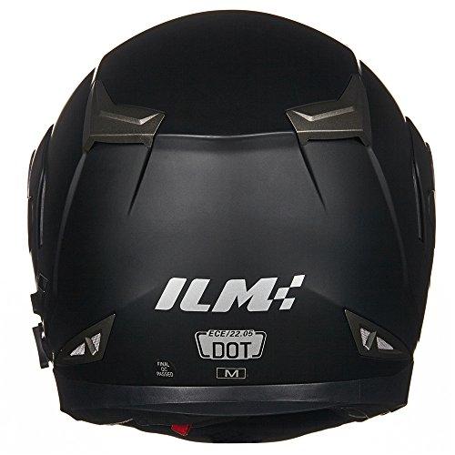 ILM-Bluetooth-Integrated-Modular-Flip-up-Full-Face-Motorcycle-Helmet-Sun-Shield-Mp3-Intercom-M-MATTE-BLACK-0-3
